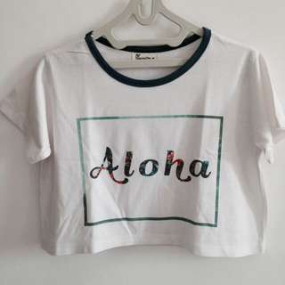 "Crop top shirt ""aloha"""
