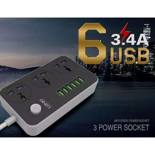 LDNIO 3 POWER STRIP 6 USB PORT [FREE SHIPPING]