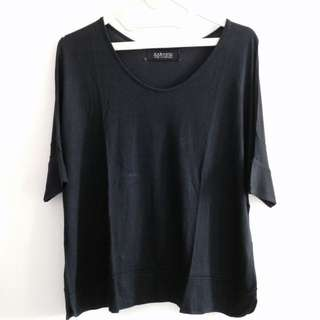 Zara Basic Shirt Navy Blue