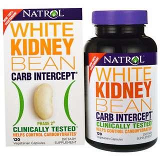 Natrol, Carb Intercept, Phase 2 White Kidney Bean, 120 Veggie Caps