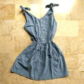 Vintage Beach Blue Dress