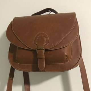 Vintage Brown Purse with long strap