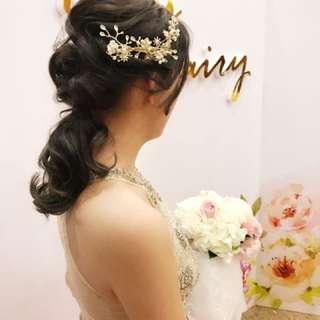 🚚 歐式新娘飾品 整體造型 新娘外拍 新娘秘書 手工飾品