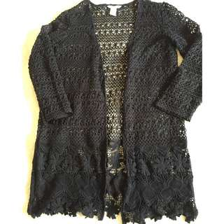 H&M crochet knitted cardigan size M