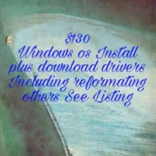 Win os Install and Other Services