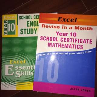 Excel Math And English Work Books