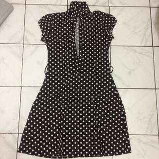 Polkadot dress lucu #dress #dressmurah