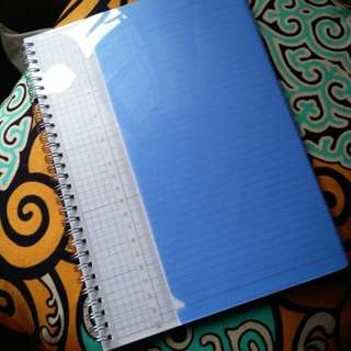 Unlabelled Spring Notebook with Built-in Ruler and Pocket Sleeve