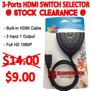 Model: 3 Port HDMI Switcher Splitter with HDMI Cable Selector Hub