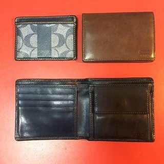 COACH零錢包短夾/卡片短夾/證件套 3件合售