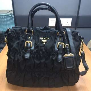 Prada Original Black Ruffle Bag