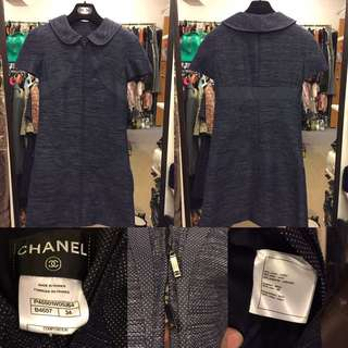 Chanel navy blue dress or coat size 34