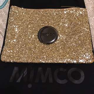 Mimco Medium Sparks Fly Gold Pouch
