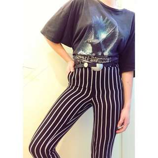 Funky striped straight leg festival pant by glamorous size 8