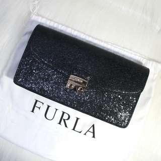 Furla julia black glitter