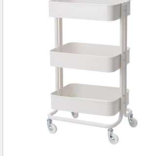 IKEA同款 三層收納推車 鐵灰色