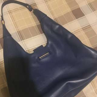 Charles and Keith blue bag