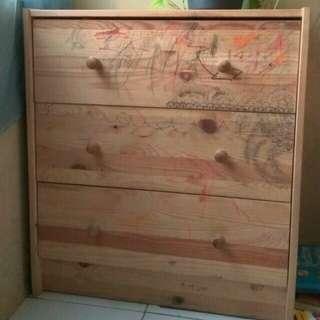 Lemari laci kayu Ikea wooden drawer
