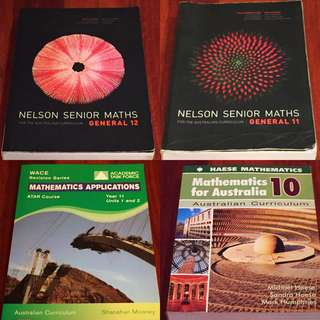 Maths apps WACE textbooks / Nelson / year 11 & 12