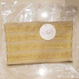 Gold Bandeau Crop Top - Size 6