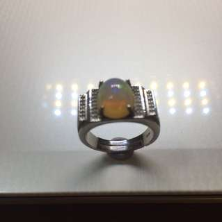 ❤️BUY ME❤️ 💯% Natural Fiery Fire 🔥 Opal Ring