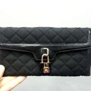 Burberry Nylon Quilted Long Wallet with leather trimmings