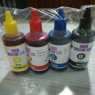 Color Ink Printer  Refill set. Set of 4 btls