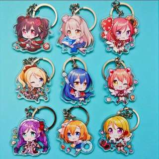 [PO] Love Live! Double Sided Acrylic Keychains