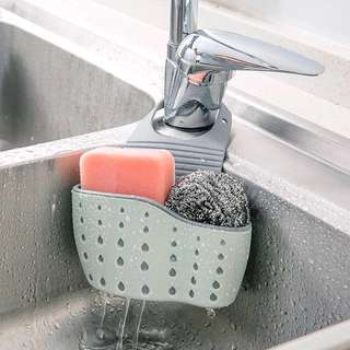 Sink tidy sponge holder
