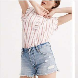 Abercrombie & Fitch High Rise Shorts Size 24 BNWT