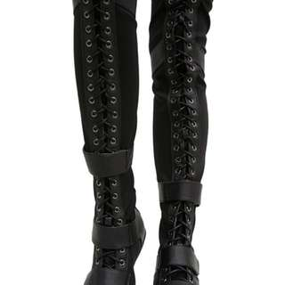THIGH HIGH SNEAKER BOOTS