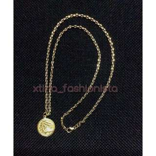 Men's 14K Gold Necklace with Dragon Pendant