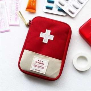 Instock BN First Aid Mini Pouch - 2 Colors Red / Blue