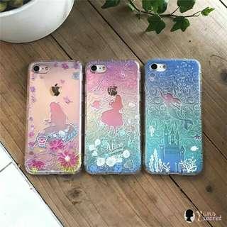 [預訂款] 童話系列 愛麗絲美人魚立體浮雕iPhone 6/6S/6 Plus/7/7 Plus 電話軟殼
