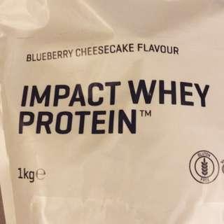 全新現貨Myprotein 乳清蛋白(藍莓起士蛋糕)1kg