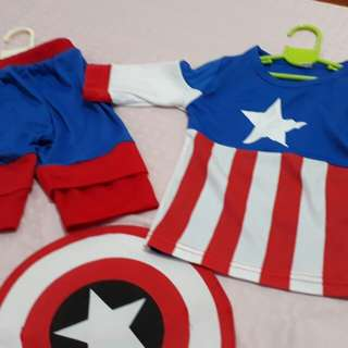 Captain America Costume for 1-2 yrs old