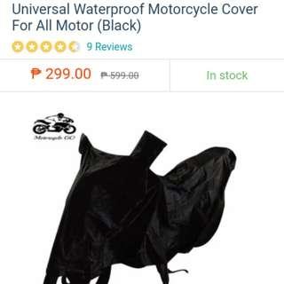 Universal waterproof motorcycle cover