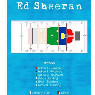Negotiable Ed Sheeran Patron B Row 13