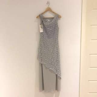Mist Blue Lace Dress - Paco (Made In Australia) RRP $300