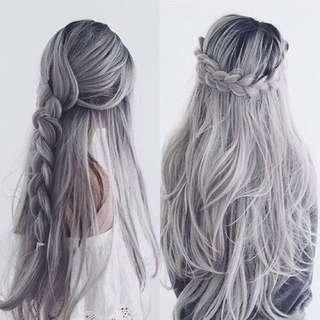 🌷Ready Stock🌷Low Maintenance Silver Grey Hair