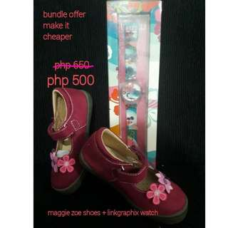 Maggie zoe shoes + watch