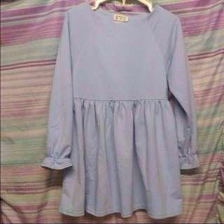 Korean brand pastel blue dress