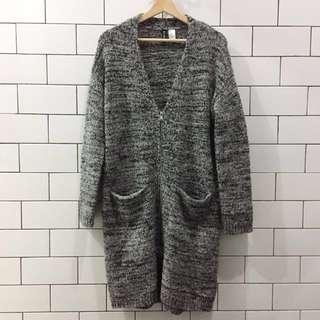 H&M Gray Wool Cardigan