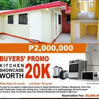 💯✔✔READY FOR OCCUPANCY!!! ⚘⚘⚘ BUYER'S PROMO: Kitchen Showcase worth 20K FOR FREE✔