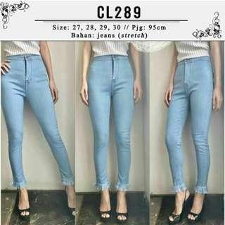 Light Blue Jeans / Highwaist Jeans / Denim
