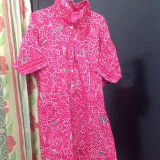Dress Batwing Batik Madura