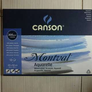 Watercolor Pad (Brand: Canson Montval Aquarelle)