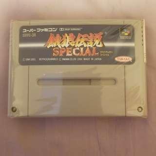 超級任天堂餓狼傳說 Special 淨帶一盒,操作正常,地鐵面交。