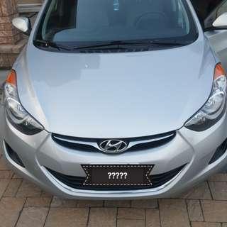 2011 Hyundail Elantra Manuel Drive 6speed