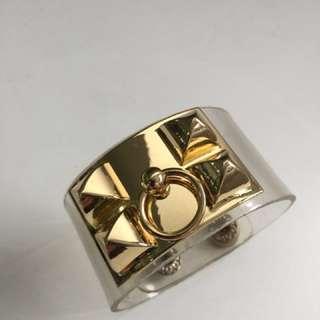 Hermès inspired plastic bangle cuff